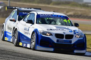 Saturday's main attraction at the Zwartkops Raceway's Sasol Raceday will be races for Sasol Global Touring Cars. Picture: Dave Ledbitter