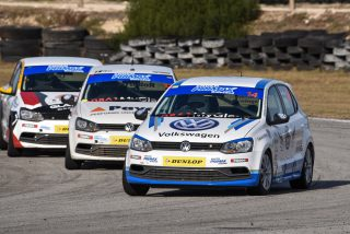 The Engen Volkswagen Challenge races should provide lots of close competition, with drivers like Jonathan Mogotsi (VW Motorsport Polo) and Devin Robertson (Payen Polo) at the front end.  Picture: Morne Condon