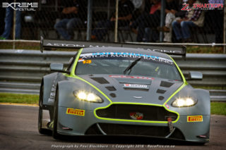 Charl Arangies (Stradale Aston Martin Vantage) took both of Saturday's G&H Transport Extreme Supercar races, setting a new overall lap record at Zwartkops in the process.