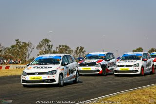 Devin Robertson (Payen Polo) dominated Saturday's Engen Volkswagen Challenge races at Zwartkops
