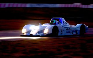 The AidCal 247 Ligier of Simon Murray and Gavin Cronje sliced through the field from the back to win the Mopar Three-Hour Endurance race