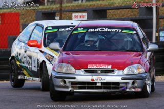 Brett Garland (autObarn Honda Civic) and Jonathan du Toit (TAR Honda Civic)