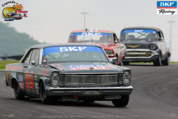 Sarel van der Merwe returns to race the grey Ford Galaxie #104