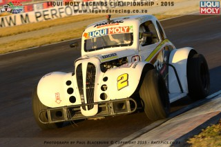 CHARGER, Seef Fourie Junior takes his Maxtrac to victory in Saturday's second Liqui Moly Legends car race