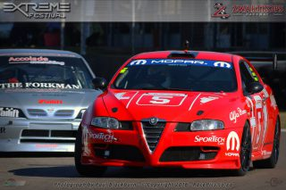 111 Sports and Saloon Car race was won by Chad Wentzel (Alfa Romeo GT)