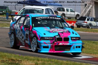 Joel Silva (Speed & Sound BMW E36) stood on the podium after both of Thursday's Races for Speed & Sound 111 Sports and Saloon Cars