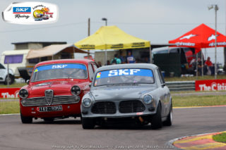 Trevor Tuck (Alfa Romeo Giulia) and Alan Poulter (Volvo 122S) should chase podium places in the races for SKF Under Two-Litre cars