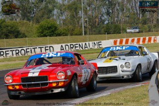 Brothers Jonathan and Mark du Toit in their TAR Chev Camaros