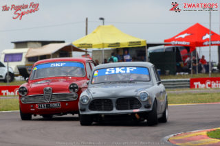 SKF Pre 1966 Legends of the 9 Hour U2 Cars - Alan Poulter (1965 Volvo 122s) and Trevor Tuck (1962 Alfa Romeo Giulietta)