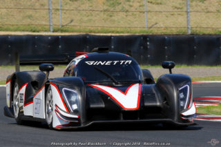 The Ginetta G57 V8 of Simon Murray and Gavin Cronje should set Saturday's quickest lap time at Zwartkops