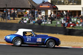Clive's pride and joy, the AC Cobra he bought and raced in the Sports & GT class of the Legends of the 9 Hour series