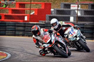 Sven Grune (Kawasaki ZX-10R) won both Red Square Kawasaki ZX-10R Masters races.