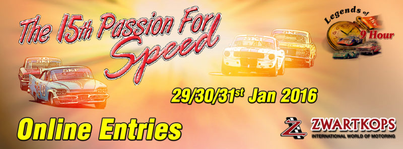 The 15th Passion for Speed - Online Entries