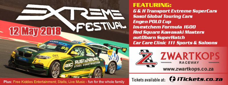 Extreme Festival on 12 May 2018 at Zwartkops