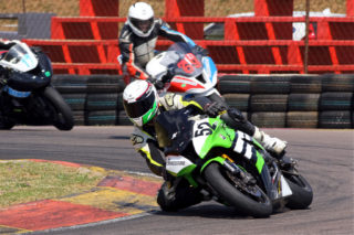 The first Bridgestone Challenge race went to Christopher Kretzen (Buissinne Kawasaki ZX10R)