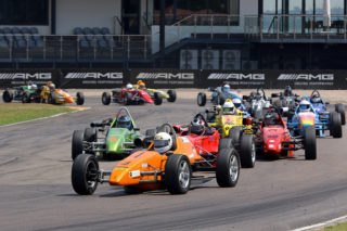 Gert van den Berg (BP Nantes Rhema) won the first Hankook Formula Vee race