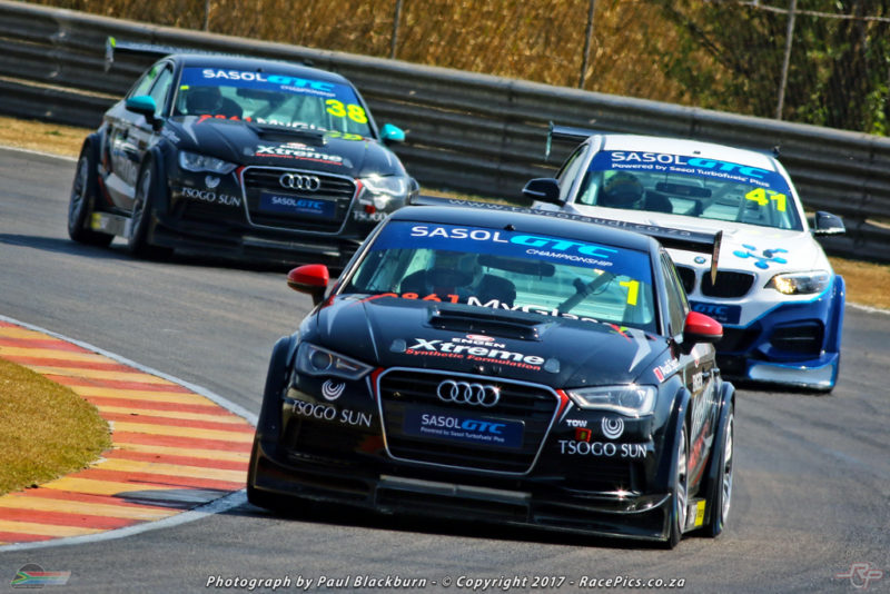 After winning both of Saturday's Zwartkops races, Michael Stephen leads the 2017 Sasol Global Touring Car title chase in his Engen Xtreme Audi