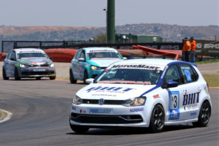 Rory Atkinson (BHIT Polo) took the first MotorMart VW Challenge race
