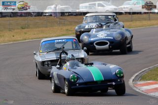 Chad Ten Doeschate (GSM Dart), Marco Taylor (Alfa Romeo GT), Keith van Heerden (Jaguar D-Type) and Nick Parrott (MGB GT) battled furiously in the opening race for SKF Pre-66 LITTLE Giant cars