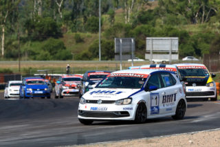 Rory Atkinson (BHIT Polo) should be a victory favourite in the races for MotorMart VW Challenge cars. Picture: RacePics.co.za