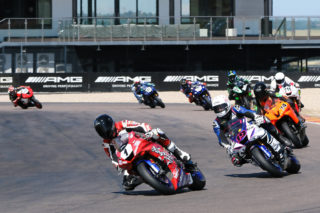 Supersport 600 led by Blaze Baker. Photo by RacePics.co.za